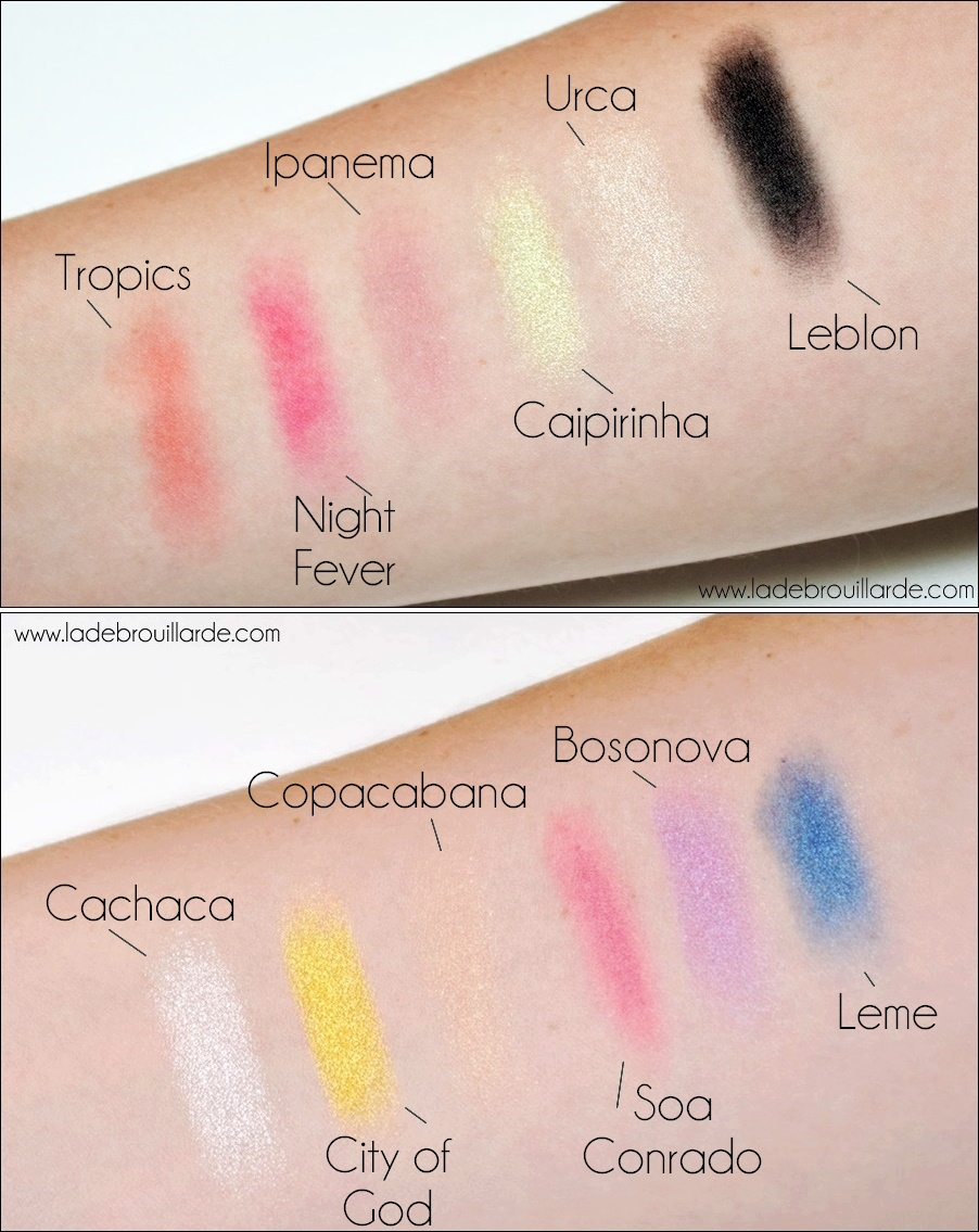 Swatch Palette Rio Rio Sleek makeup