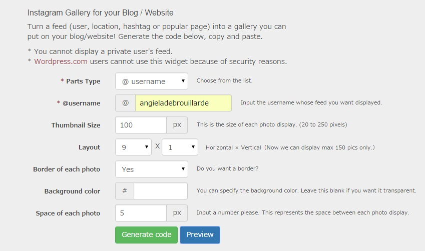 websta Widget