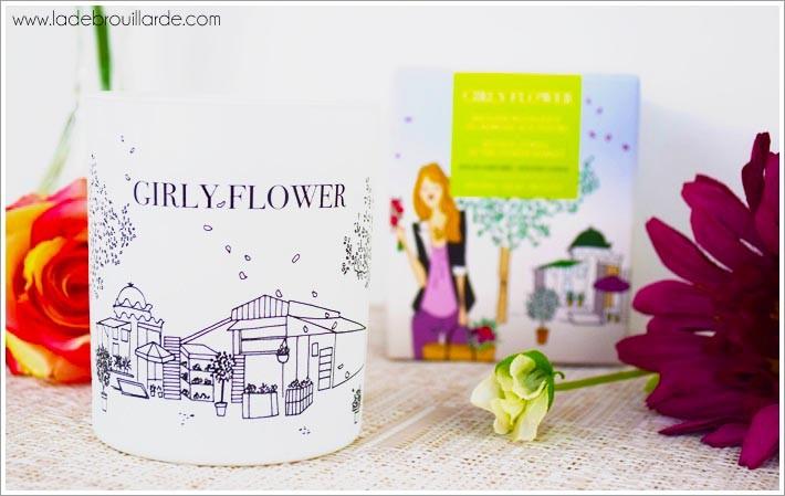 Girly flower bougie à la française