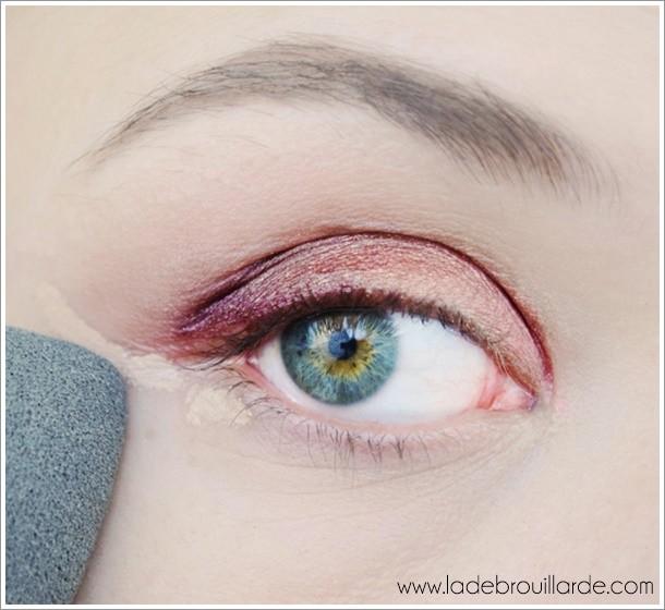 Astuce maquillage Bavure