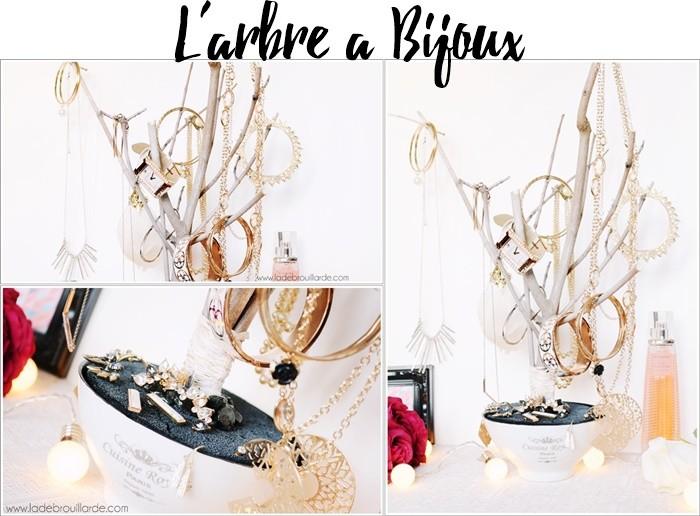 arbre à bijoux DIY rangement bijoux