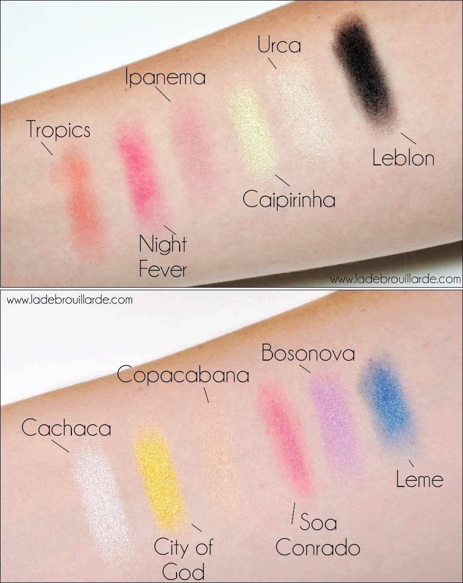 Swatch Palette Rio Rio Sleek makeup