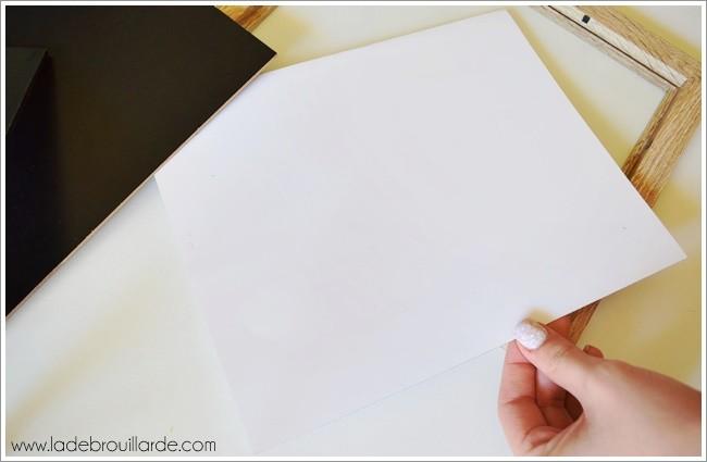 DIY Deco tableau blanc 1