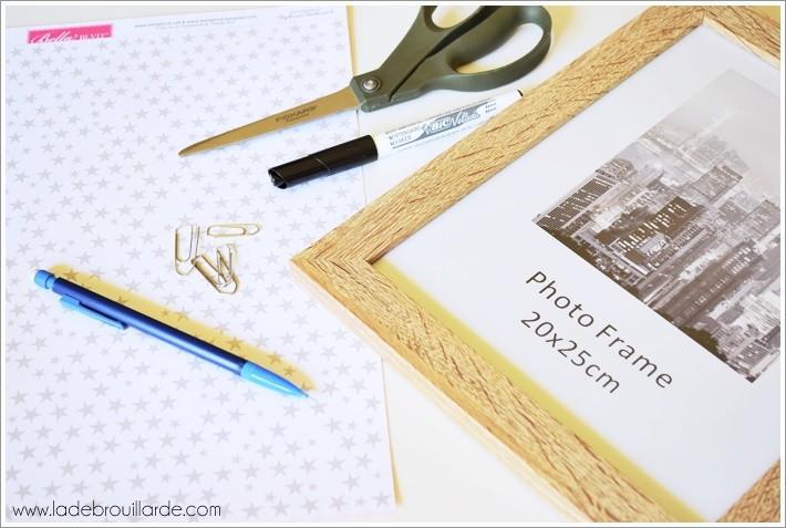 materiel DIY Deco tableau blanc