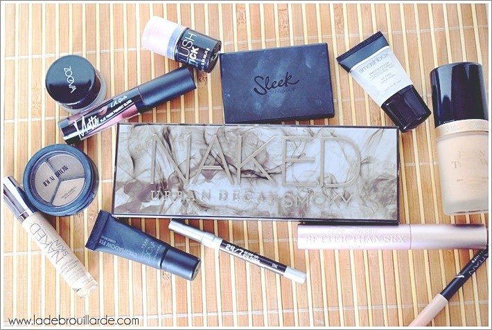 Materiel Tuto maquillage Naked Smoky