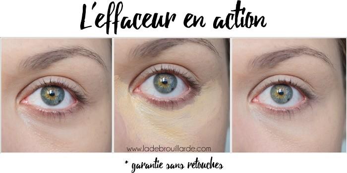 Effaceur yeux test