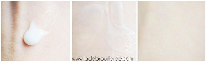 Texture crème gel au concombre La rosée